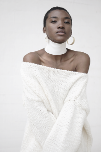 Off-the-Shoulder Thick Knit